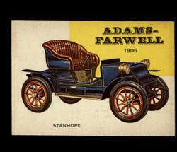 1954 WORLD ON WHEELS TOPPS #105 ADAMS-FARWELL STANHOPE *R1265