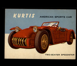 1954 WORLD ON WHEELS TOPPS #118 KURTIS AMERICAN SPORTS CAR *R1273