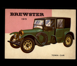 1954 WORLD ON WHEELS TOPPS #121 BREWSTER TOWN CAR *R1274