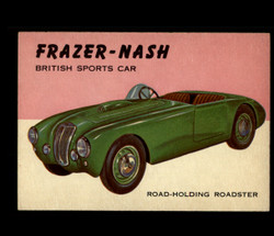 1954 WORLD ON WHEELS TOPPS #123 FRAZER-NASH BRITISH SPORTS CAR *R1277