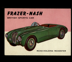 1954 WORLD ON WHEELS TOPPS #123 FRAZER-NASH BRITISH SPORTS CAR *R1278