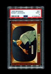 1955 RANDY JACKSON BOWMAN #87 CHICAGO CUBS PSA 9