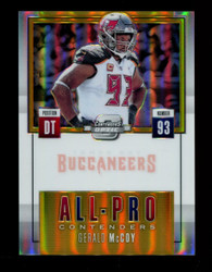 2017 GERALD MCCOY PANINI OPTIC CONTENDERS GOLD #/10 ALL PRO *R1291