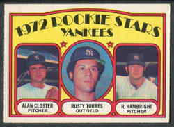 1972 NEW YORK YANKEES ROOKIE STARS OPC #124 O PEE CHEE NM #2408