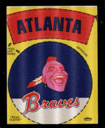 1968 ATLANTA BRAVES FLEER TEAM CLOTH STICKERS *6091