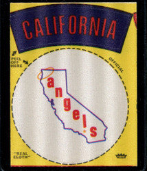 1968 CALIFORNIA ANGELS FLEER TEAM CLOTH STICKERS *4719