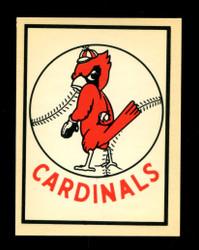 1961 ST LOUIS CARDINALS FLEER TEAM LOGO DECALS *5727