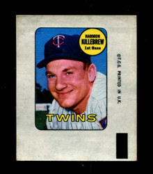 1969 HARMON KILLEBREW TOPPS DECAL TWINS EX *3374