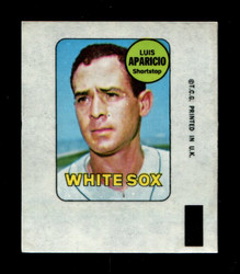 1969 LUIS APARICIO TOPPS DECAL WHITE SOX EX *3844