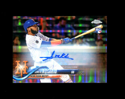 2018 AMED ROSARIO TOPPS CHROME UPDATE #HMT29 ROOKIE AUTO METS *2891