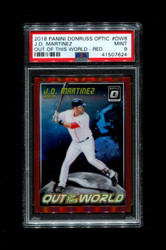 2018 J.D. MARTINEZ PANINI OPTIC #0W8 OUT OF THIS WORLD #/99 RED PSA 9