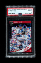 2018 CHRIS SALE PANINI OPTIC #106 RED SOX PSA 9