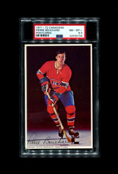 1971 PIERRE BOUCHARD MONTREAL CANADIENS POSTCARDS PSA 8.5