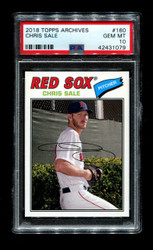 2018 CHRIS SALE TOPPS #160 RED SOX PSA 10