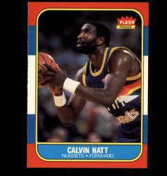 1986 CALVIN NATT FLEER #79 NUGGETS *1298