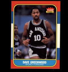 1986 DAVE GREENWOOD FLEER #41 SPURS *6923