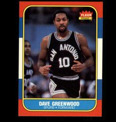 1986 DAVE GREENWOOD FLEER #41 SPURS *7652