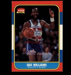 1986 GUS WILLIAMS FLEER #124 BULLETS *5838