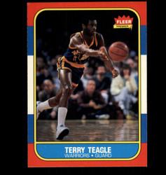 1986 TERRY TEAGLE FLEER #107 WARRIORS *2378