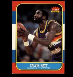 1986 CALVIN NATT FLEER NUGGETS *4106