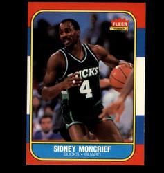 1986 SIDNEY MONCRIEF FLEER #75 BUCKS *4234