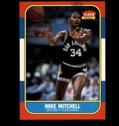 1986 MIKE MITCHELL FLEER #74 SPURS *5545