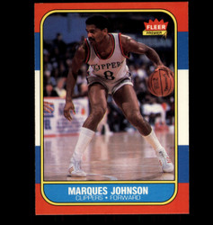 1986 MARQUES JOHNSON FLEER #54 CLIPPERS *6463