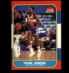 1986 FRANK JOHNSON FLEER #52 BULLETS *5969