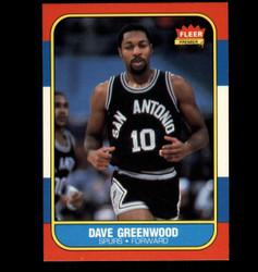 1986 DAVE GREENWOOD FLEER #41 SPURS *2273