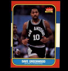 1986 DAVE GREENWOOD FLEER #41 SPURS *8034