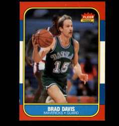 1986 BRAD DAVIS FLEER #22 MAVERICKS *5666