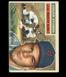 1956 CHUCK STOBBS TOPPS #68 NATIONALS VG *R1433