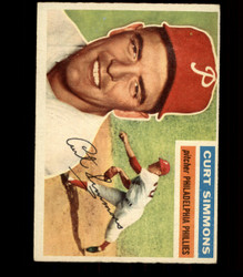 1956 CURT SIMMONS TOPPS #290 PHILLIES EX *R1563