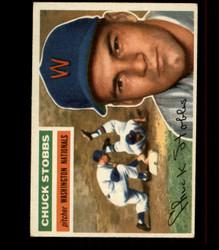 1956 CHUCK STOBBS TOPPS #68 NATIONALS EX *R1600