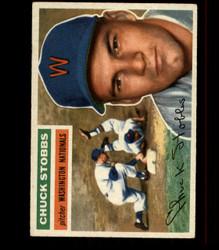 1956 CHUCK STOBBS TOPPS #68 NATIONALS EX *R1601