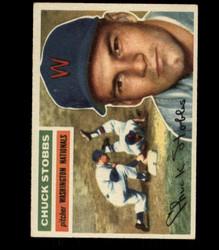 1956 CHUCK STOBBS TOPPS #68 NATIONALS EX/MT *R1642