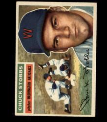 1956 CHUCK STOBBS TOPPS #68 NATIONALS EX/MT *R1618