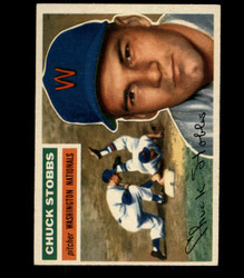1956 CHUCK STOBBS TOPPS #68 NATIONALS EX/MT *R1617