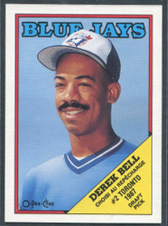 1988 DEREK BELL OPC #311 O PEE CHEE BLUEJAYS BLACK ONLY BACK #2801