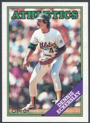 1988 DENNIS ECKERSLEY OPC #72 O PEE CHEE ATHLETICS BLACK BACK ONLY #2788