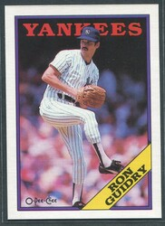 1988 RON GUIDRY OPC #127 O PEE CHEE YANKEES BLACK BACK ONLY #2796
