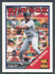 1988 ELLIS BURKS OPC #269 O PEE CHEE REDSOX BLACK BACK ONLY #2800