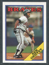 1988 KEN GRIFFEY OPC #255 O PEE CHEE BRAVES BLACK BACK ONLY #2804