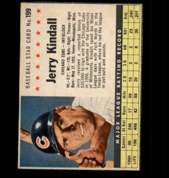 1961 JERRY KINDALL POST #199 CUBS *3478