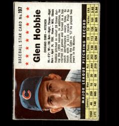 1961 GLEN HOBBIE POST #197 CUBS *4654