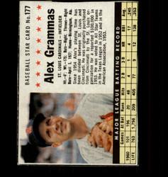 1961 ALEX GRAMMAS POST #177 CARDINALS *4224