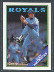 1988 BRET SABERHAGEN OPC #5 O PEE CHEE ROYALS BLACK BACK ONLY #2783