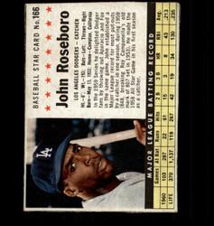1961 JOHN ROSEBORO POST #166 DODGERS *4769