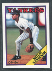 1988 WILLIE RANDOLPH OPC #210 O PEE CHEE YANKEES BLACK BACK ONLY #2793