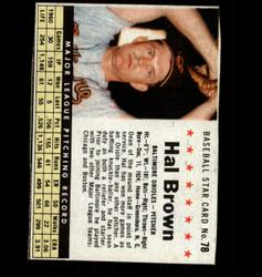 1961 HAL BROWN POST #78 ORIOLES *9000